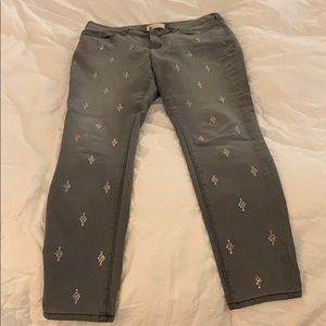 Glittered Jeans Grey